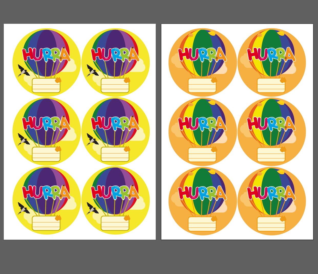 Grattismärken, luftballonger som du kan skriva elevens namn på. Olika färger som matchar månadens namn